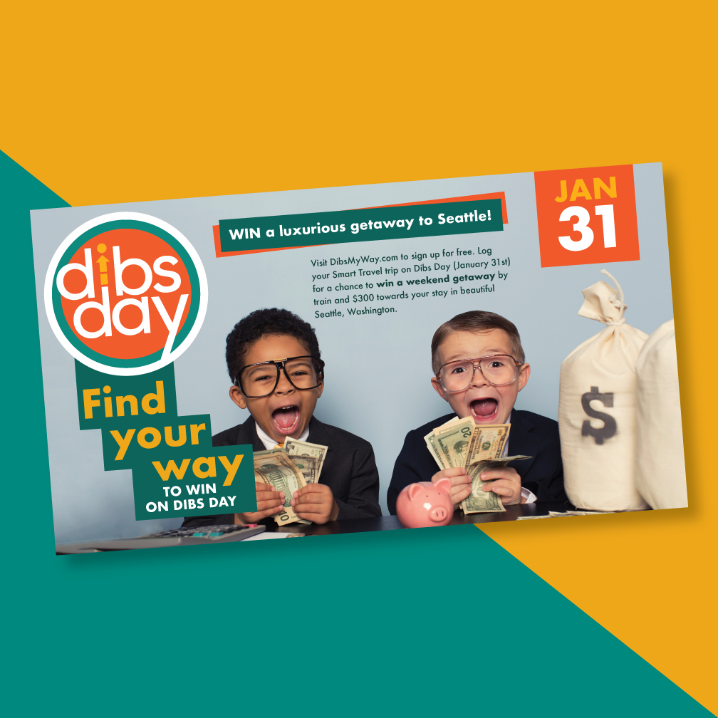 dibs postcard with children and money