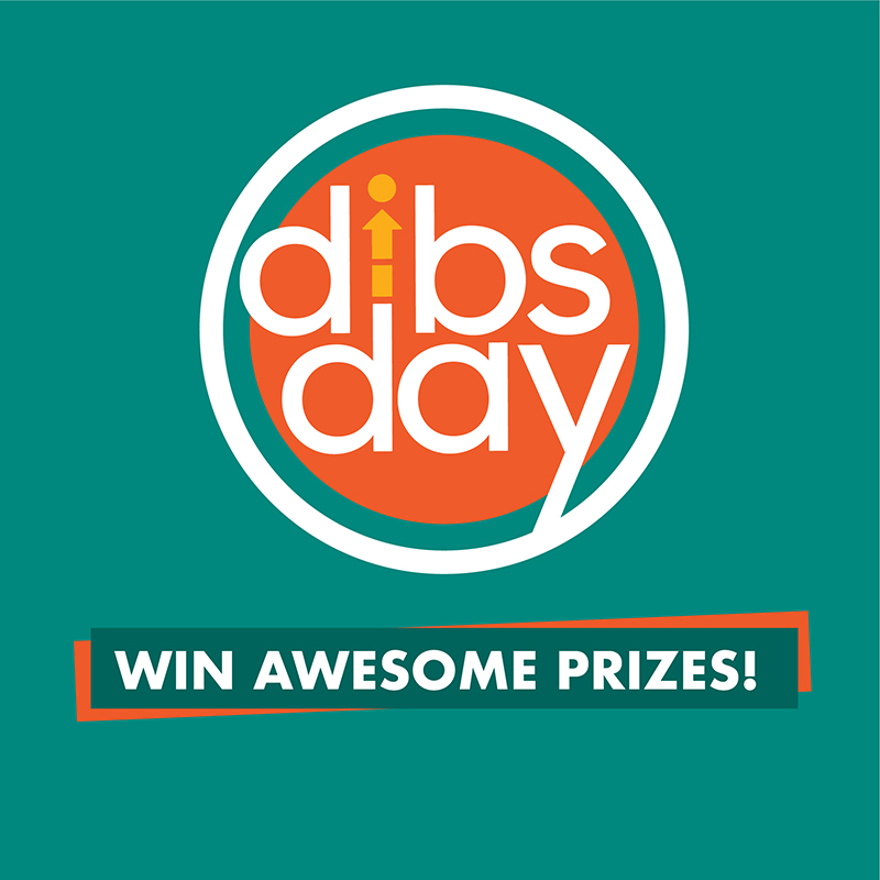 Dibs logo on a green background