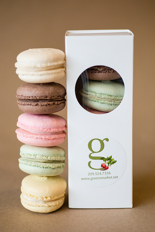 Greens Macaroons with box