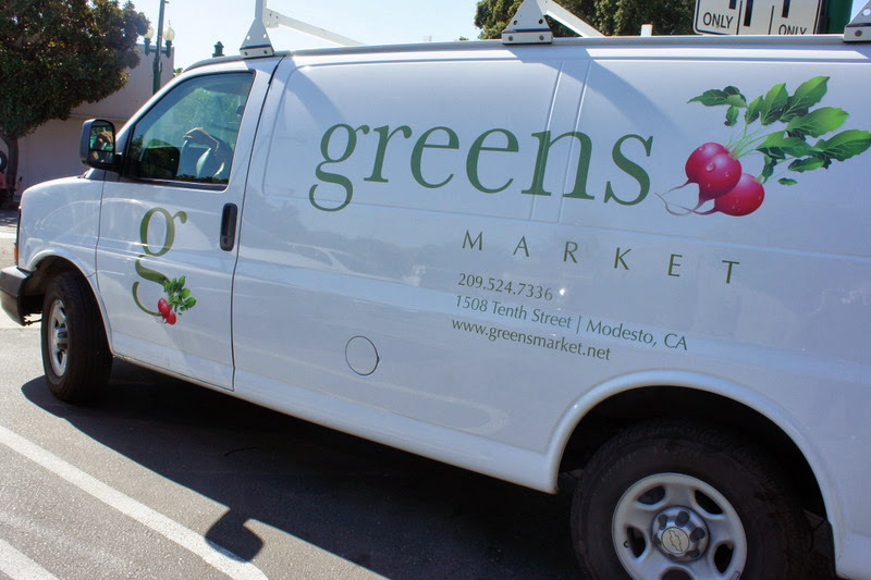 Greens labeled van